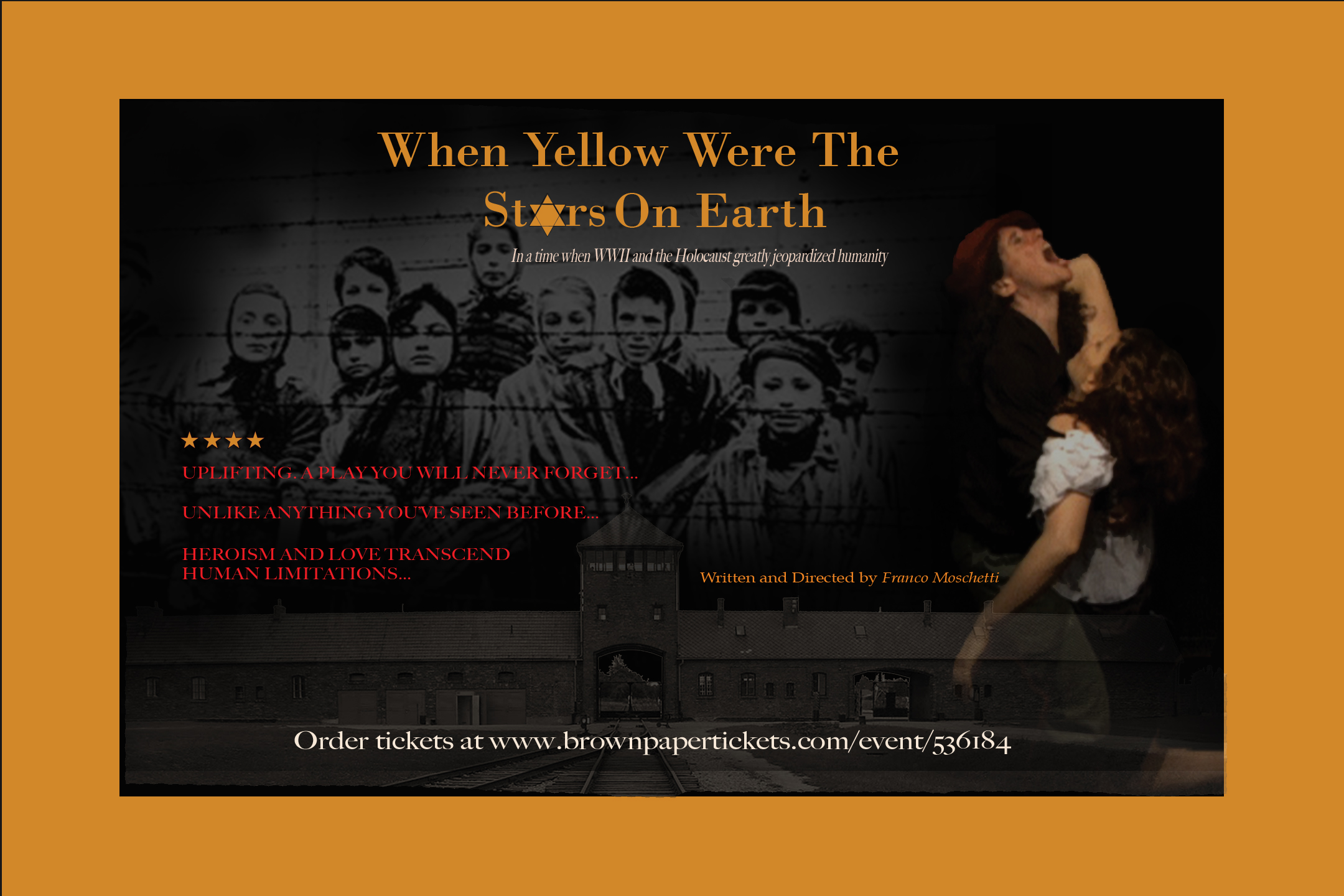Yellow Stars Poster Landscape POSTCARDS Press Release   Cabrini Repertory Theatre